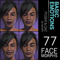 Exnem Basic Emotions 3D Figure Assets exnem