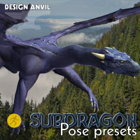 DA Subdragon Pose Pack - Poser edition 3D Figure Essentials Razor42