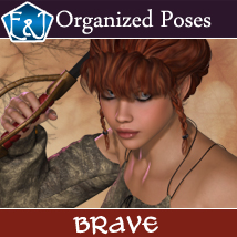 Brave Organized Poses For V4 3D Figure Assets EmmaAndJordi