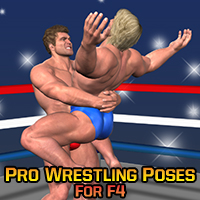 Pro Wrestling Poses for F4 3D Figure Assets LuckyStallion
