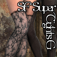 SF SuperTights Genesis 3D Figure Assets SickleYield