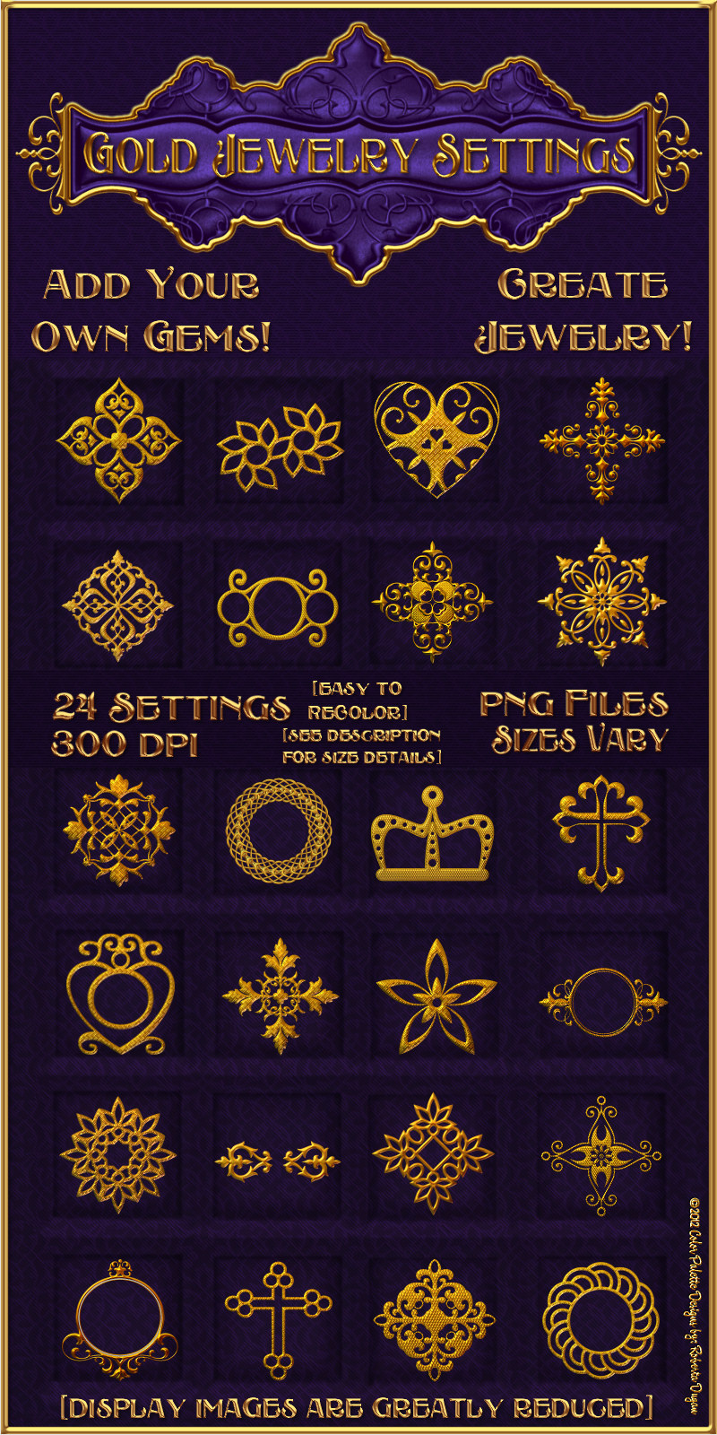 Gold Jewelry Settings Design Resource