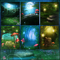 Fairy Illuminations Backgrounds and Wings image 1