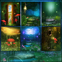 Fairy Illuminations Backgrounds and Wings image 2