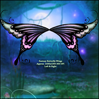 Fairy Illuminations Backgrounds and Wings image 6