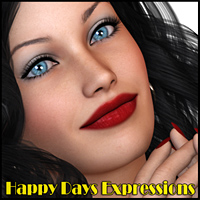 Happy Days Expressions 3D Figure Assets Freja