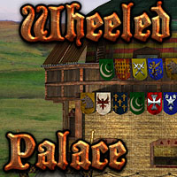 Wheeled Palace Themed Transportation Props/Scenes/Architecture Cybertenko