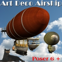 Art Deco Airship 3D Models Michael_C