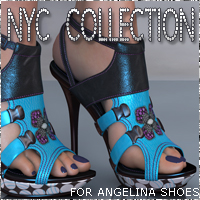 NYC for Angelina Shoes 3D Figure Essentials 3DSublimeProductions