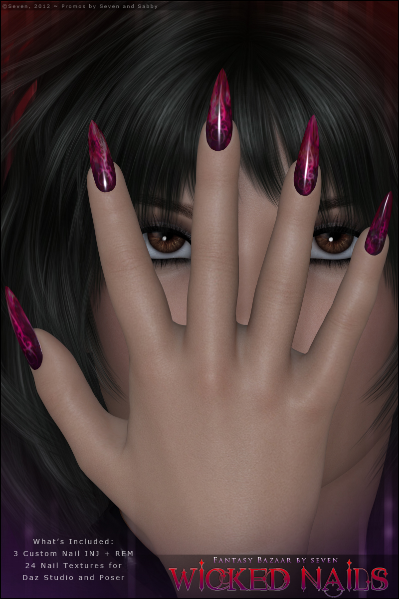 SV7 Fantasy Bazaar - Wicked  Nails