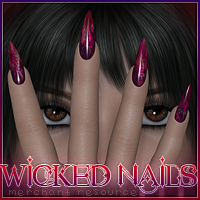 SV7 Fantasy Bazaar - Wicked  Nails 3D Figure Assets Seven
