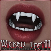SV7 Fantasy Bazaar - Wicked  Teeth 3D Figure Assets Seven