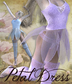 PetalDress dynamics clothes for V4 3D Figure Essentials 3D Models Tipol