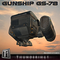 Gunship GS-78 Transportation Themed Software Props/Scenes/Architecture keppel