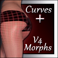 V4 Curves Glute Shaping and Movement Morphs 3D Figure Essentials Xameva