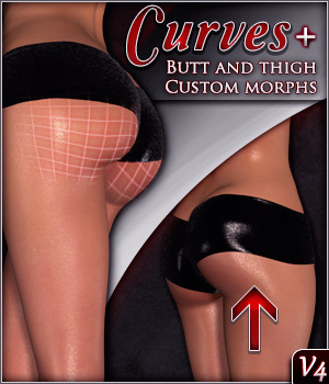 V4 Curves Glute Shaping and Movement Morphs 3D Figure Assets Xameva