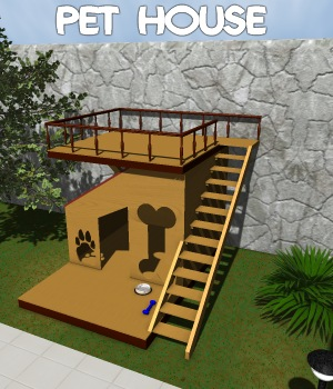Pet house 3D Models greenpots