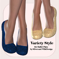 Variety Style for Ballet Flats 3D Figure Essentials sapphy