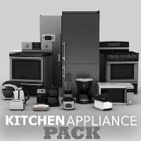 Kitchen Appliance Pack Props/Scenes/Architecture Software TruForm