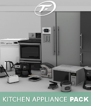 Kitchen Appliance Pack 3D Models TruForm