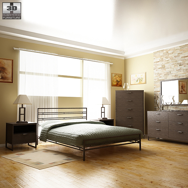 Bedroom Sonya Set - 3D Model