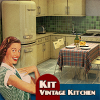 Kit Vintage Kitchen 3D Models Toffanello