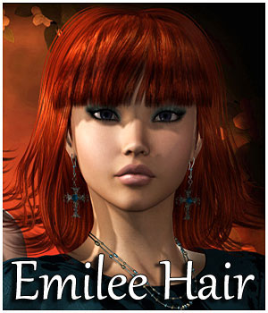 Emilee Hair V4, A4, G4, Alyson 2 3D Figure Assets RPublishing