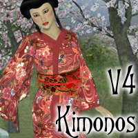 V4 Kimonos 3D Figure Essentials 3D Models Lyrra