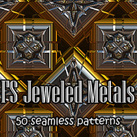 FS Jeweled Metals Themed 2D And/Or Merchant Resources FrozenStar
