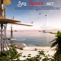 Sky Glider set Props/Scenes/Architecture Transportation Software Themed 1971s