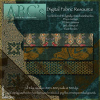 ABC's Digital Fabric Resource 2D And/Or Merchant Resources Themed antje