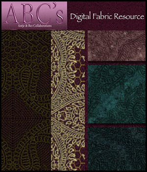 ABC's Digital Fabric Resource 2D 3D Models antje