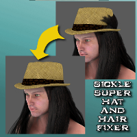 Sickle Super Hat And Hair Fixer 3D Figure Essentials SickleYield