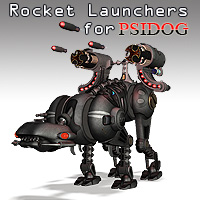 PsiDog Rocket Launchers Stand Alone Figures Themed Props/Scenes/Architecture Simon-3D