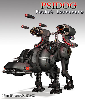 PsiDog Rocket Launchers 3D Models Simon-3D