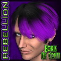 REBELLION: Boris De Conti Themed Hair Silverwind-Designs