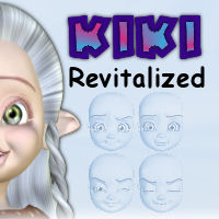 Kiki Revitalized Expressions 3D Models 3D Figure Assets tiggersprings