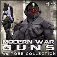 ModernWar-Guns Ultimate Pose Collection for M4 3D Models 3D Figure Essentials DarioFish