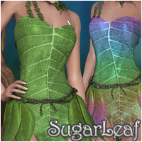 Sugar Leaf 3D Models 3D Figure Essentials Silver
