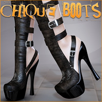 Chique Boots 3D Figure Assets Legacy Discounted Content lilflame