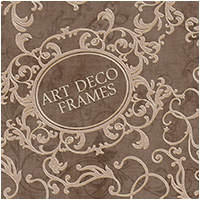 Art Deco Frames 2D And/Or Merchant Resources Atenais