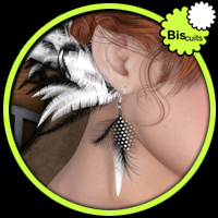 Biscuits Feather Earrings by Biscuits
