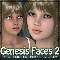 Genesis Faces 2 by Sabby Characters Morphs/Deformers Software Sabby