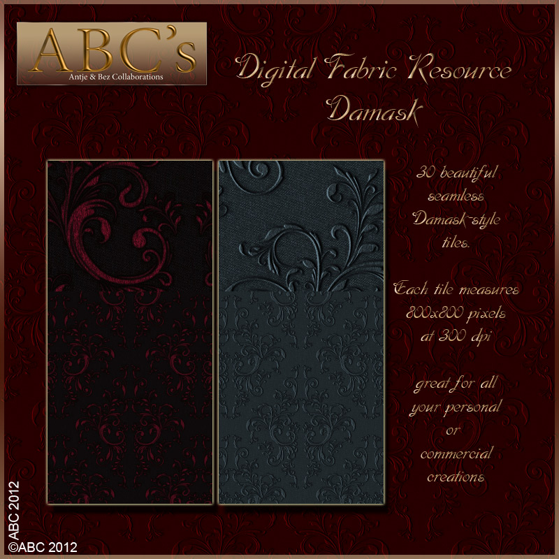 ABC's Digital Fabric Resource - Damask