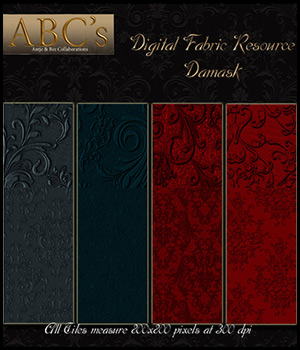ABC's Digital Fabric Resource - Damask 2D antje