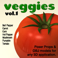 Exnem Veggies Vol 1 3D Models exnem