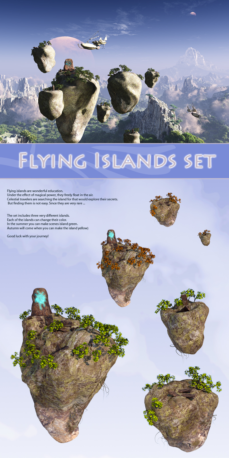 Flying Islands set