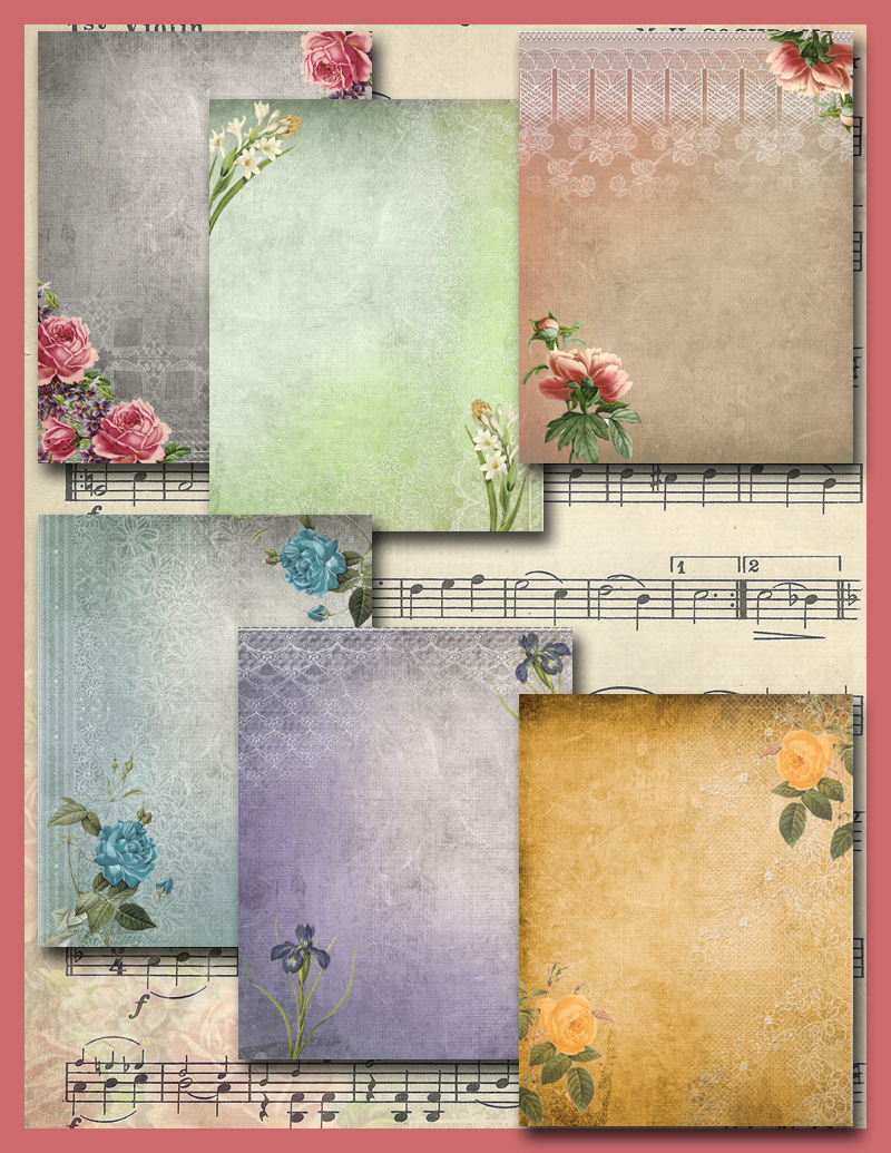 Lacy Vintage Look Papers