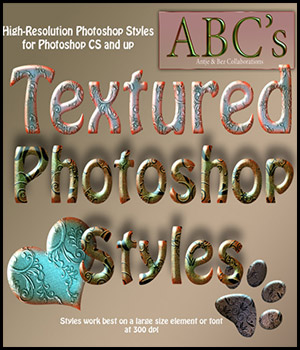 ABC-Textured Styles 2D Graphics antje