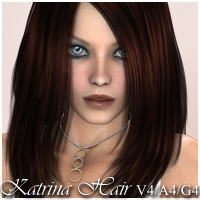 Katrina Hair V4-A4-G4 3D Figure Essentials nikisatez